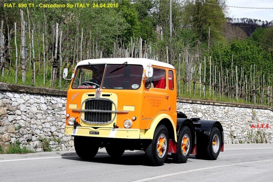 Special trekkers met oplegger: Fiat 690 T1 en Saurer D330
