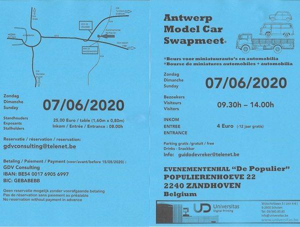 Antwerp model car swapmeet 2020 (7 juni 2020)