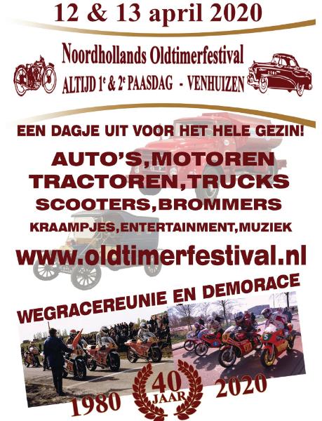 Noord-Hollands Oldtimer Festival (12 – 13 april 2020)
