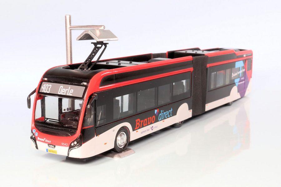 Elektrische gelede stadsbus